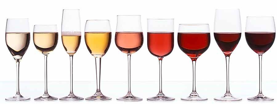 vino bianco rosso e rosato